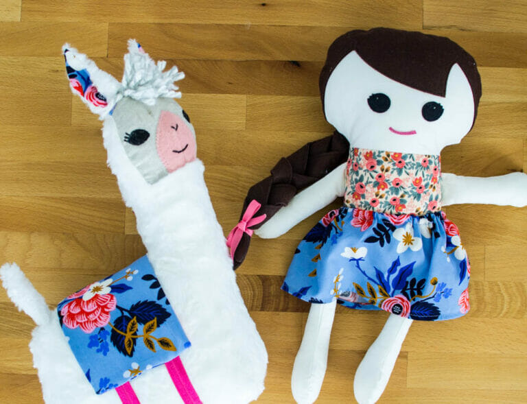 Sewing the Lulu Llama Pattern from Gingercake