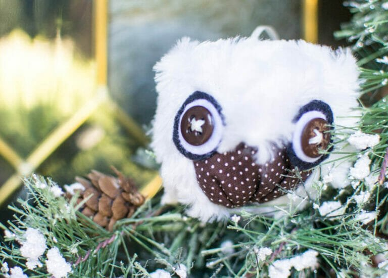 How to Sew DIY Owl Christmas Ornaments
