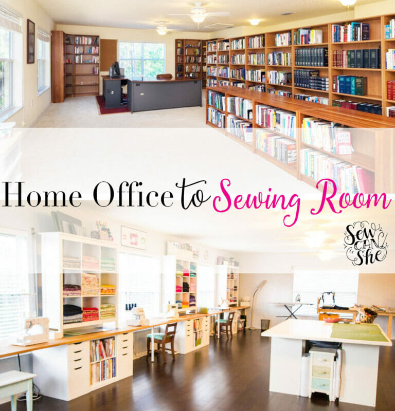 My Home Office to Sewing Studio Remodel is Finished!