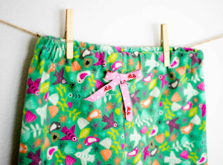 How to Sew Cute Flannel Christmas P.J. Pants
