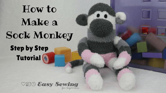 How to Sew an Adorable Sock Monkey from a free tutorial!