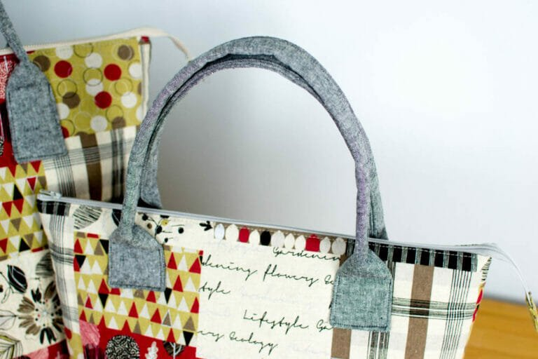 How to Sew Japanese-style Fabric Bag Handles