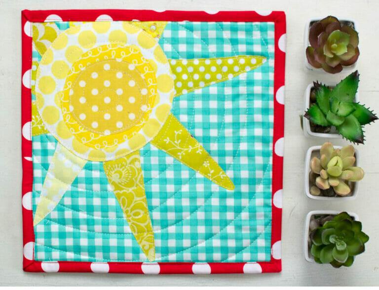 A sneak peek at My Sunshine Mini Quilt!