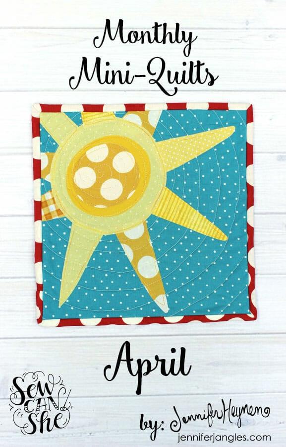 Free Mini Quilt Pattern: Sunshine by Jennifer Heynen!