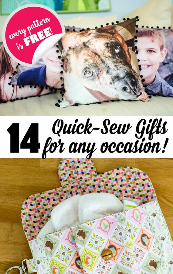 14 Quick Sewing Gifts for Any Occasion {all free patterns or tutorials}
