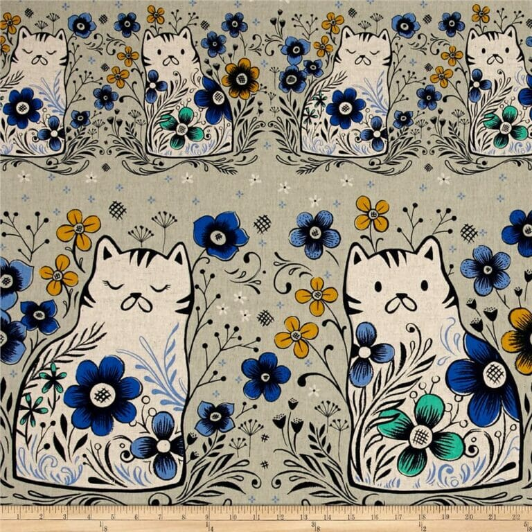 12+ Cat Fabrics that You Need in Your Stash!