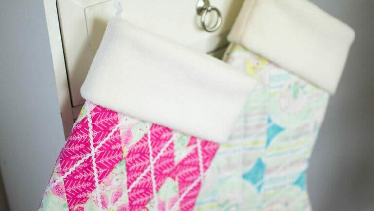 Argyle Christmas Stockings free sewing pattern