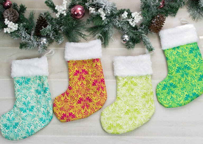 Beautiful and Classic Christmas Stocking Sewing Pattern – Free!