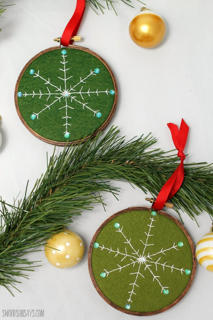 A Free DIY Embroidered Snowflake Pattern!