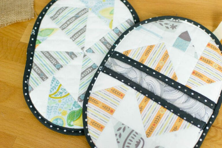 How to Sew Last Minute Potholders (from UFO quilt blocks!)