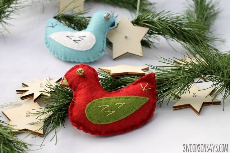 How to Sew Jingle Bird Christmas Ornaments!