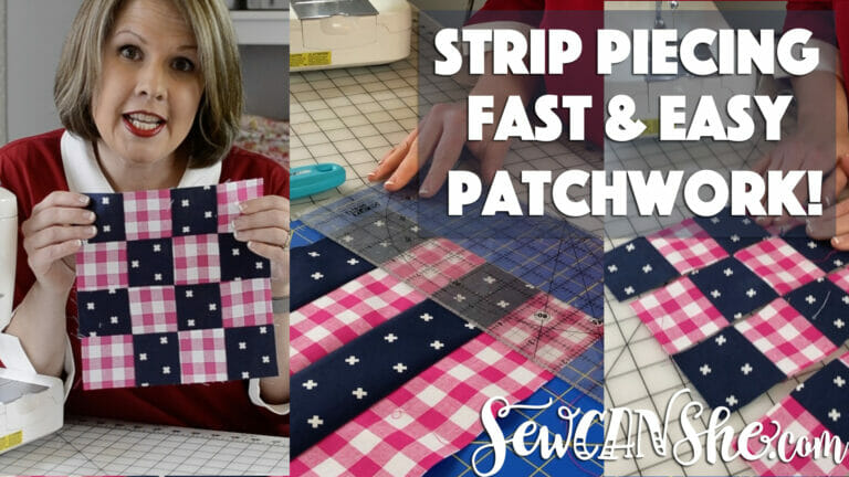 Sew Patchwork Blocks with Strip Piecing! {how to video}