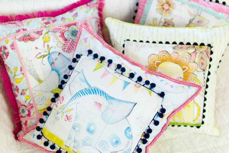 Show Off Saturday… Fun Spring Pillows + tips for getting the look