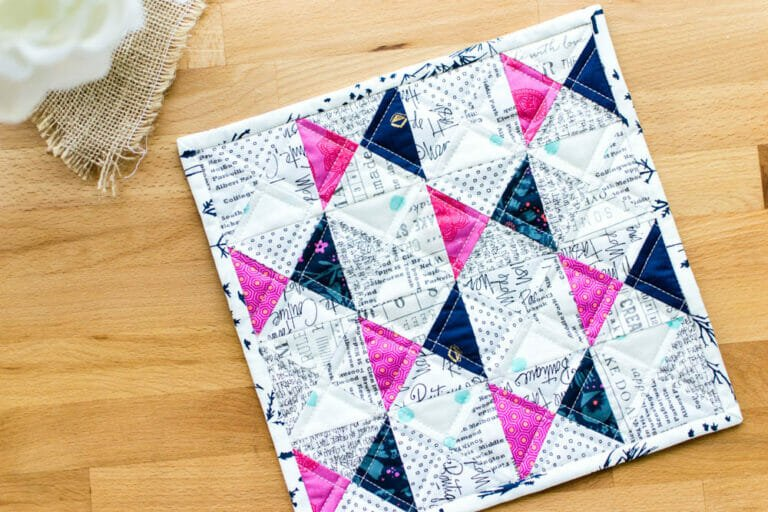 Free Quarter Square Triangle Mini Quilt Pattern… Lunar Landing