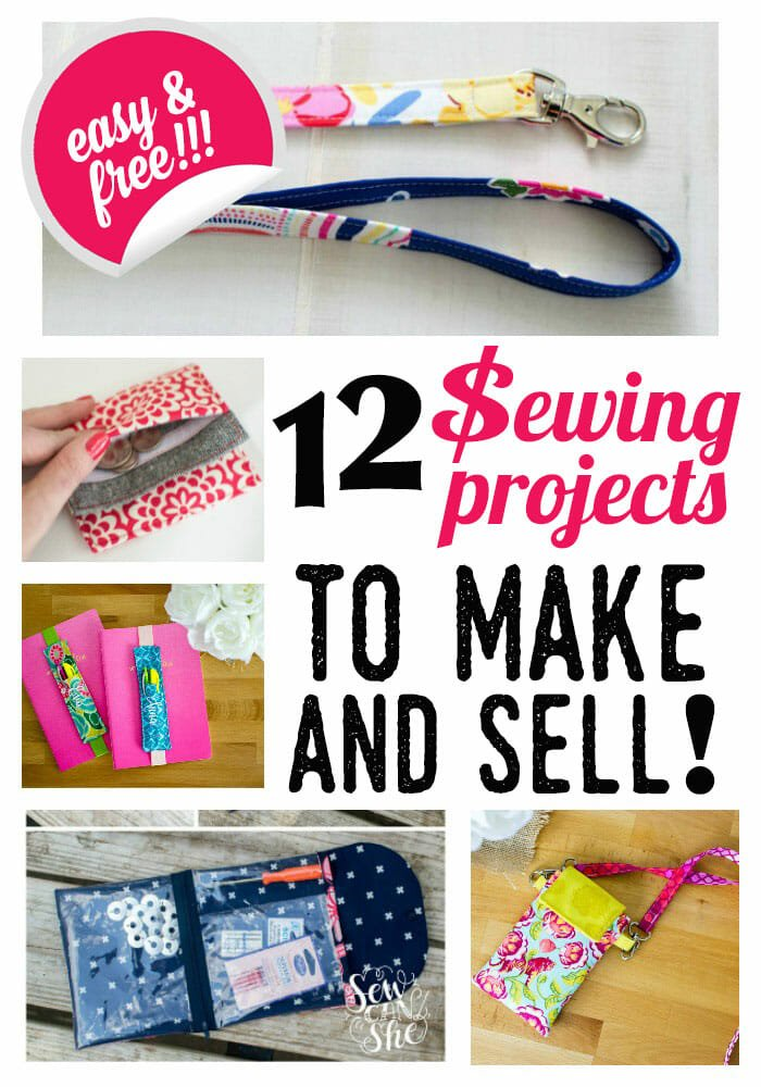 12 Easy Sewing Projects to Make & Sell! {free patterns}