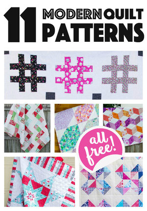 11+ Modern Quilt Patterns for you to sew… all easy and free!