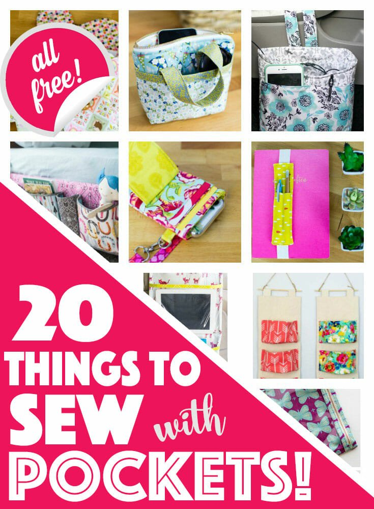 20 Things to Sew With Pockets – all free!