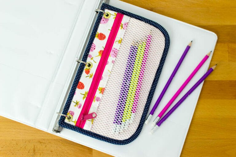 How to Sew 3-ring Pencil Pouches with Grommets