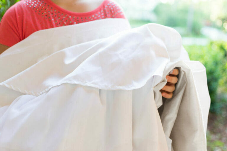 The day a stranger showed up at my door holding a wedding dress for me to hem