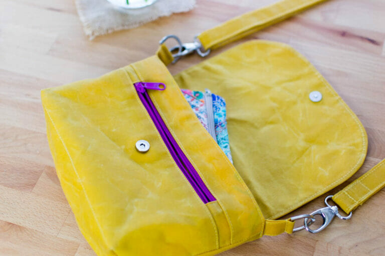 Sew A Cute Little Bag with Waxed Canvas