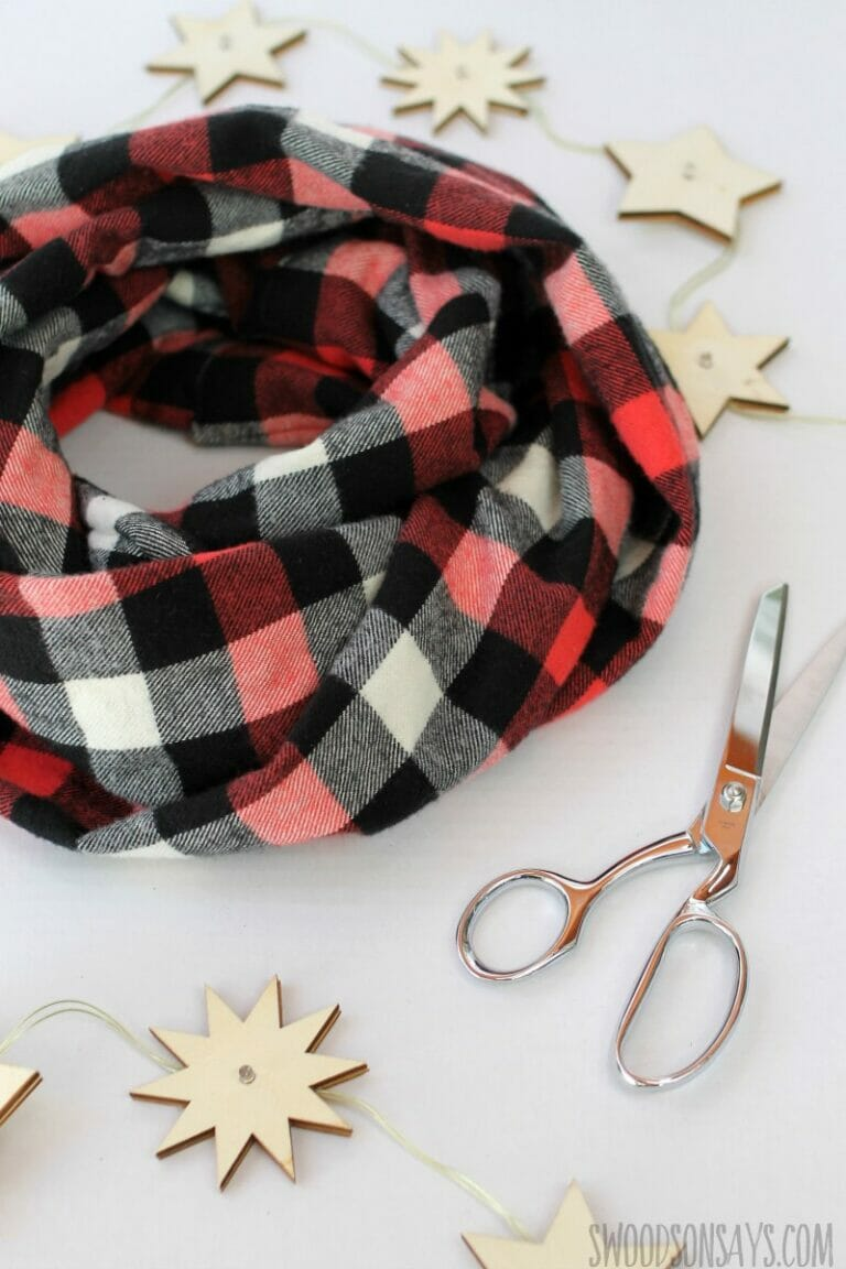 How to Sew a DIY Flannel Infinity Scarf!