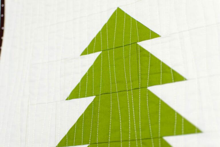 Easy Pine Tree Quilt Block (& how to finish your Gnome Forest Quilt)