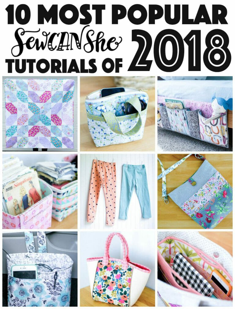 10 Most Popular SewCanShe Sewing Tutorials of 2018!