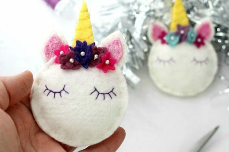 Stephanie's Magical Unicorn Christmas Ornaments!