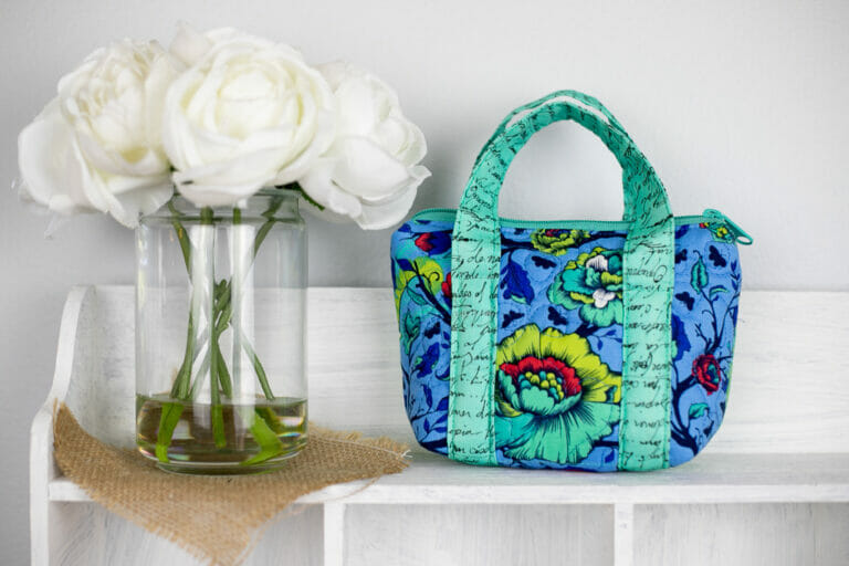 Sew a Quilted Tiny Bag from My Free Sewing Pattern