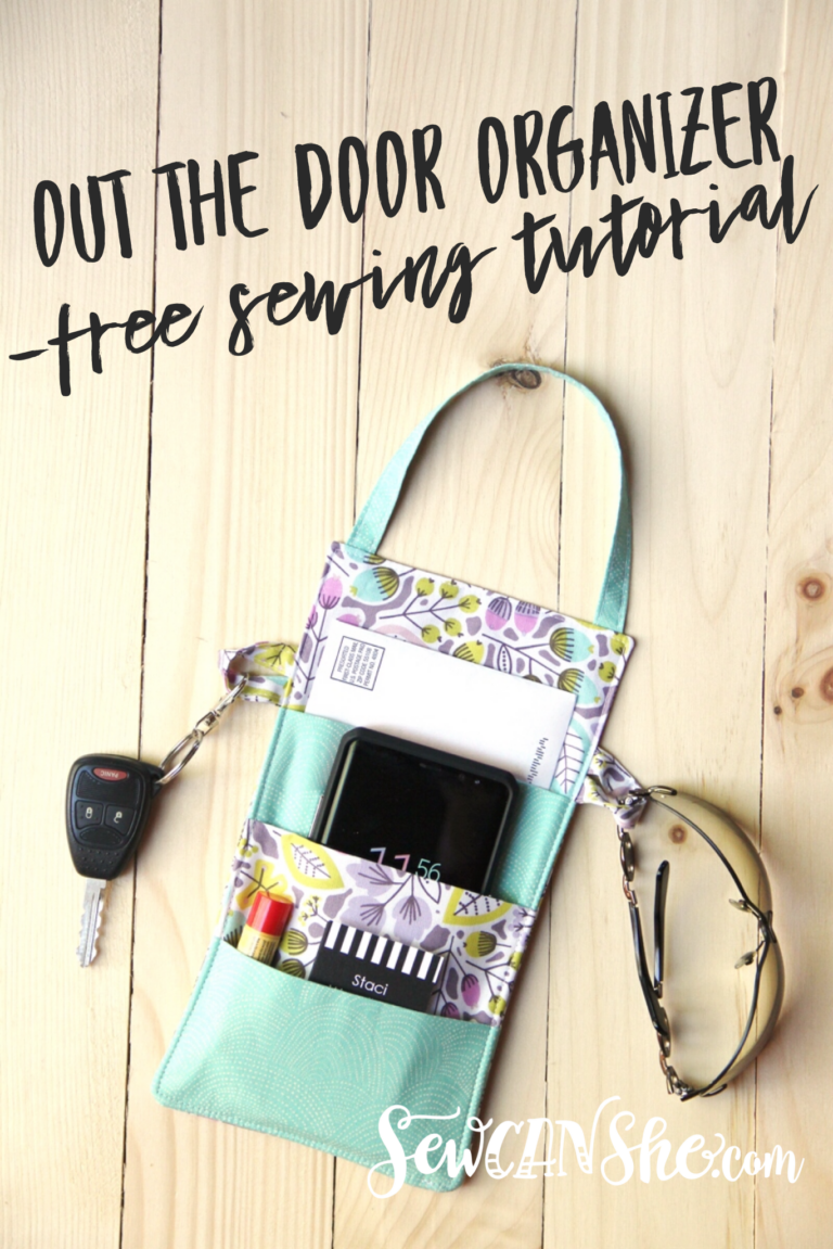 Out the Door Organizer – free sewing tutorial