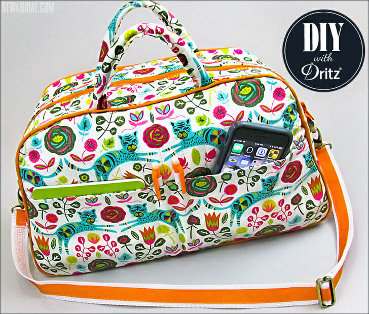 Friday Spotlight: An Adorable Quilted Duffel from Sew4Home!