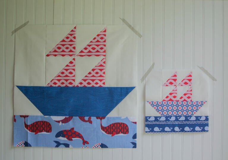 Easy Quilt Block Tutorial: the Sailboat Block