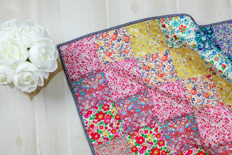 How to Sew a Beautiful Rainbow Quilt with Liberty Fabrics!