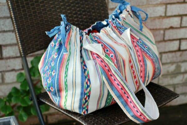 How to Sew An Irresistible Boho Beach Bag!