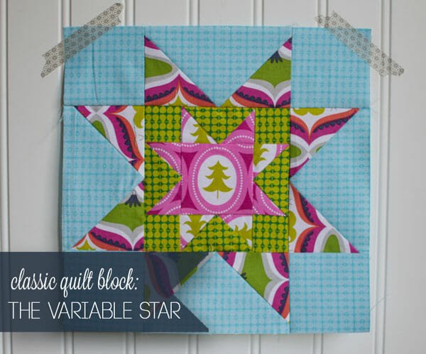 Easy Quilt Block Tutorial: The Variable Star (in a star)