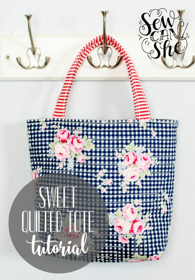 Sweet Quilted Tote {free sewing tutorial}