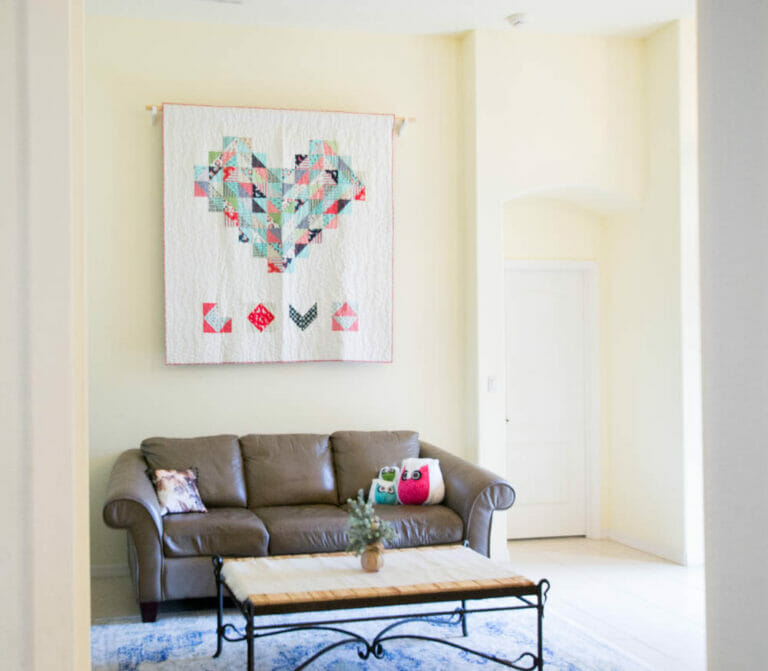 How to Hang a Quilt on Your Wall – 2 different ways