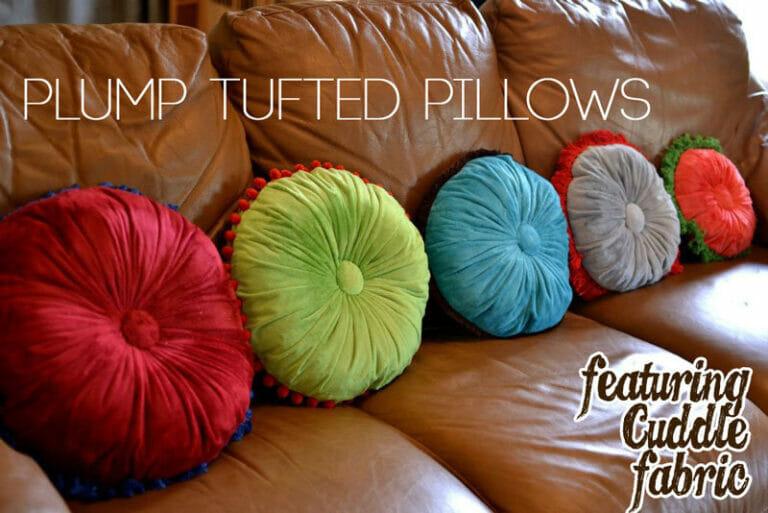 Plump Tufted Pillows Tutorial featuring Cuddle fabric