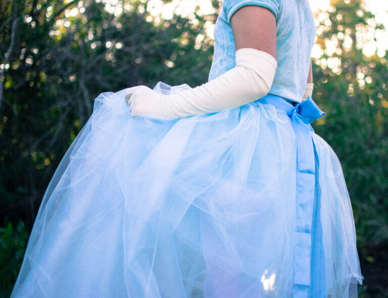 DIY Tulle and Ribbon Wrap-Around Skirt