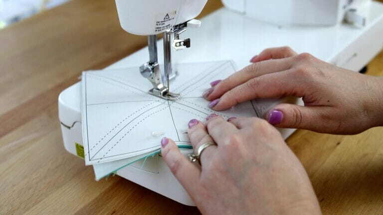 How to Make Perfect Half Square Triangles using my HST Papers – Free Printable!