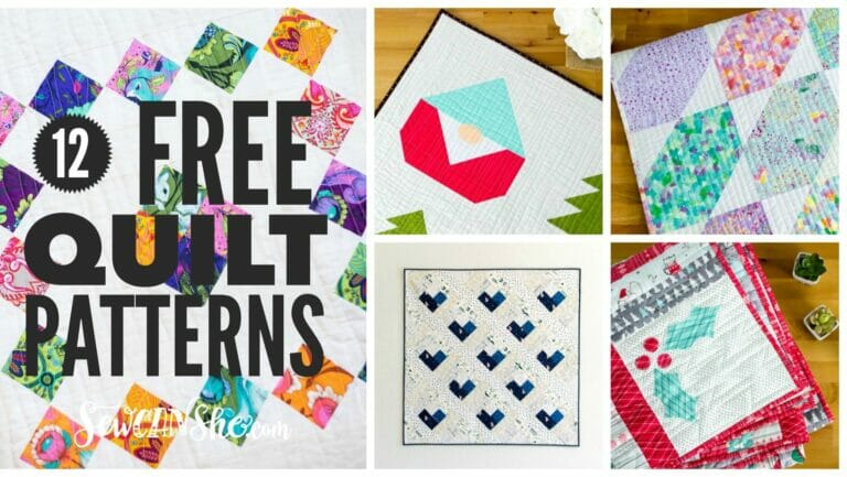 12 Free Quilt Patterns You Will Love {video quilt show}!