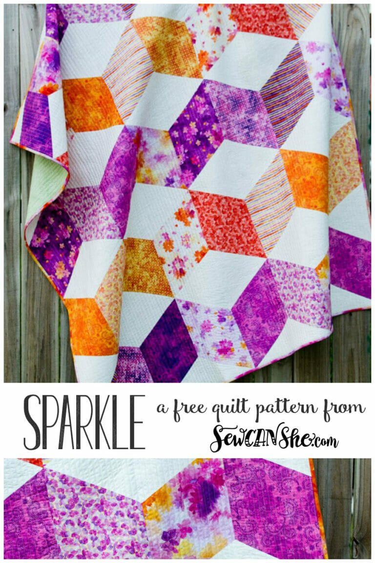 Sparkle Quilt {free pattern for a gorgeous zig zag quilt!}