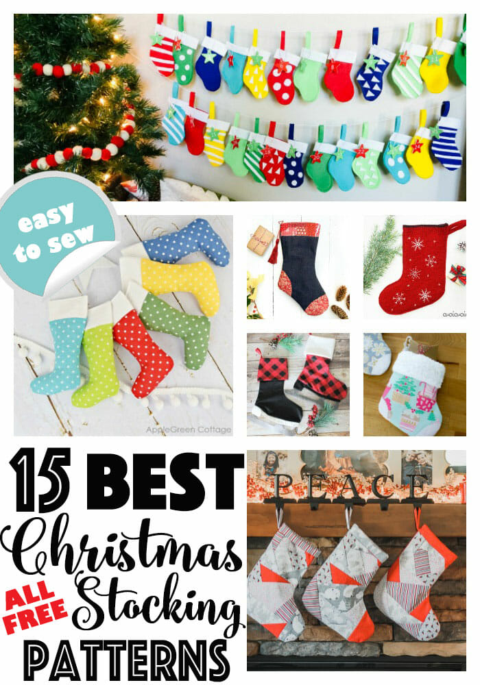 The 15 BEST Free Christmas Stocking Patterns on the Web!