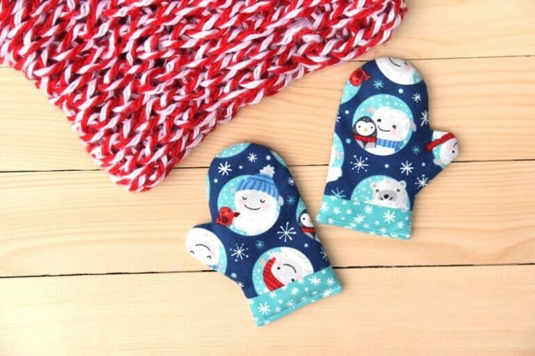 How to Sew Cute Mitten Handwarmers – free sewing pattern!