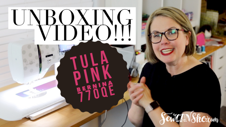 Unboxing my Tula Pink Bernina 770QE right now!