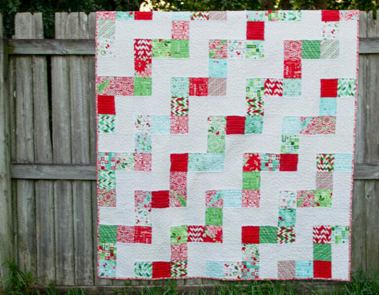 My No Bake Jolly Bar Quilt – free pattern from Fat Quarter Shop!
