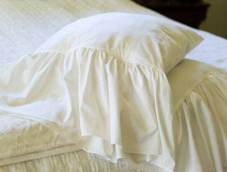 How to Sew DIY Ruffled Pillowcases {get this designer look for less}