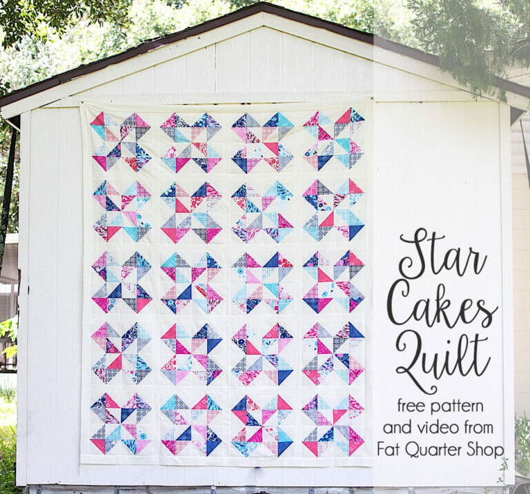 Star Cakes Quilt Pattern – free with a video tutorial from Fat Quarter Shop!