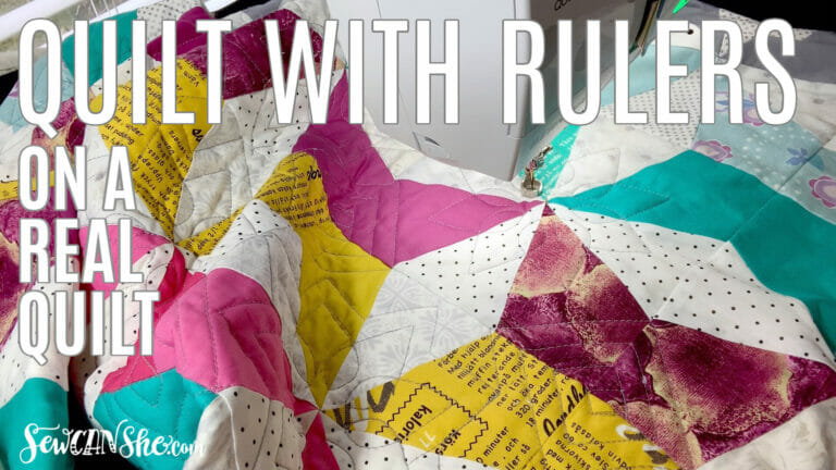 How to Quilt with Rulers on a Real Quilt – easy ideas for 2 rulers! (video too)
