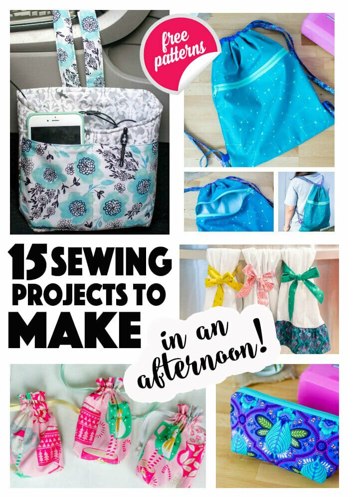 15 Easy Sewing Projects to Make in an Afternoon!